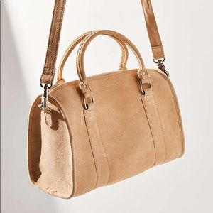 Light Pink / Tan Aspen Ovard Suede Bag UO